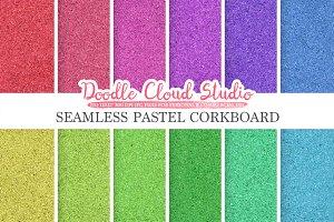 Seamless Pastel Corkboard textures