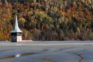 Submerged Church, abandoned village