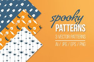 Spooky Seamless Patterns