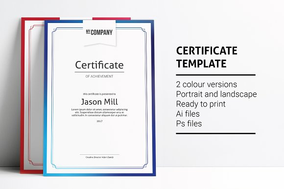 Certificate template card templates creative market yelopaper Image collections
