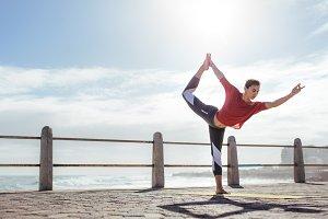 Fitness woman doing yoga