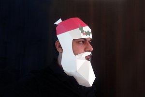 DIY Santa Claus Mask - 3d papercraft