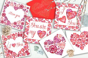 Love Cards, Invitations, Backgrounds