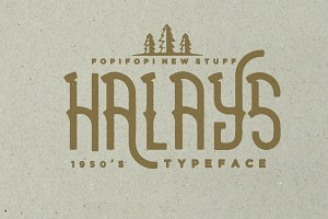 Halays Typeface (Bonus)