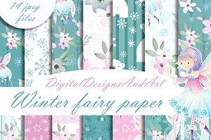 Winter fairy paper