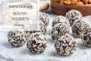 Photo pack with healthy desserts