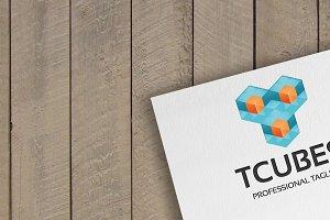 Tcubes Letter T Logo