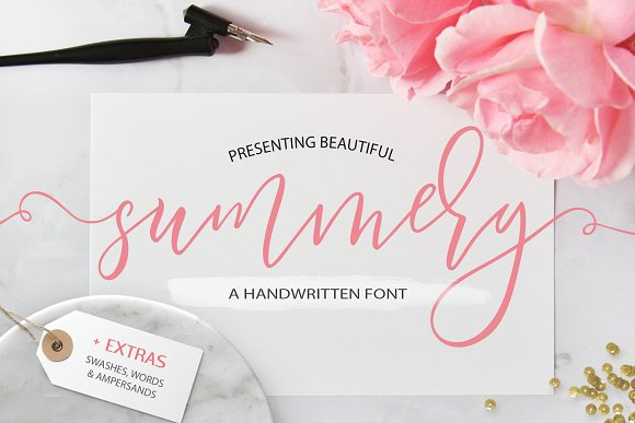 Summery Handwritten Calligraphy Font