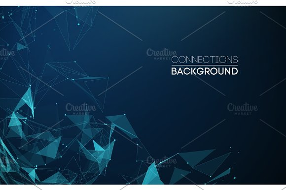 Network Connection Concept Blue Vector Illustration Futuristic Triangle Perspective Wide Angle Landscape Futuristic Honeycomb Concept 3D Landscape Big Data Digital Background