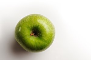 juicy apple top view
