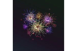3 Fireworks Backgrounds