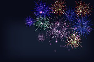 2 Fireworks Backgrounds