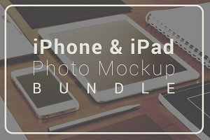 iPhone & iPad - Photo Mockup Bundle