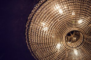 burning chandelier round
