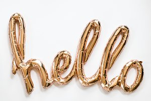 HELLO Styled Stock Balloon Letters
