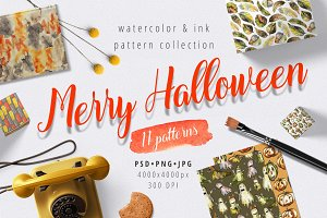 Merry Halloween - pattern set
