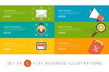 Flat website banners template