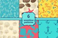 Six seamless sea patterns