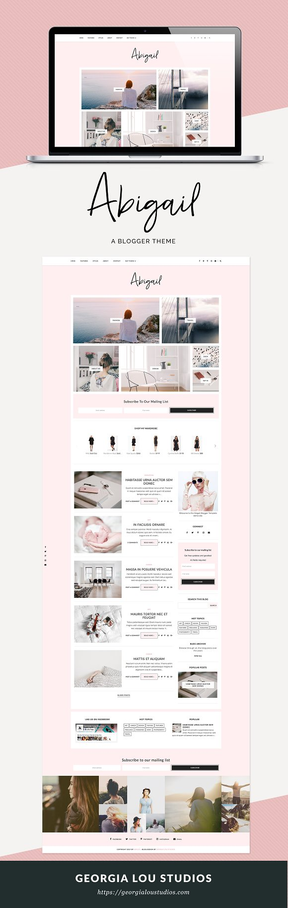 Blogger Template Responsive Abigail Website Templates Creative