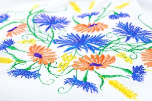 Embroidery - flowers