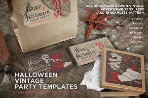 -70% OFF for set of Halloween cards