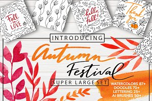 AUTUMN FESTIVAL - super large set