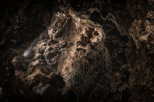 Underground cave texture closeup photo