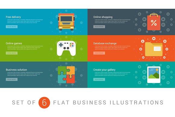 Flat website banners template ~ Web Elements ~ Creative Market