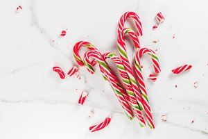 Bouquet of Christmas candy canes