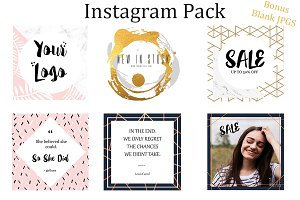 Instagram Pack with BONUS blank JPGS