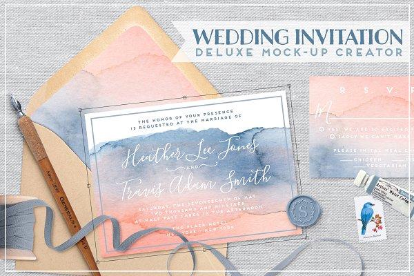 Wedding Invite mockup bundle scene