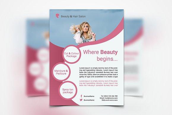 hair stylist salon flyer flyers