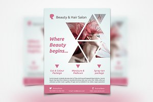 Hair Stylist & Salon Flyer