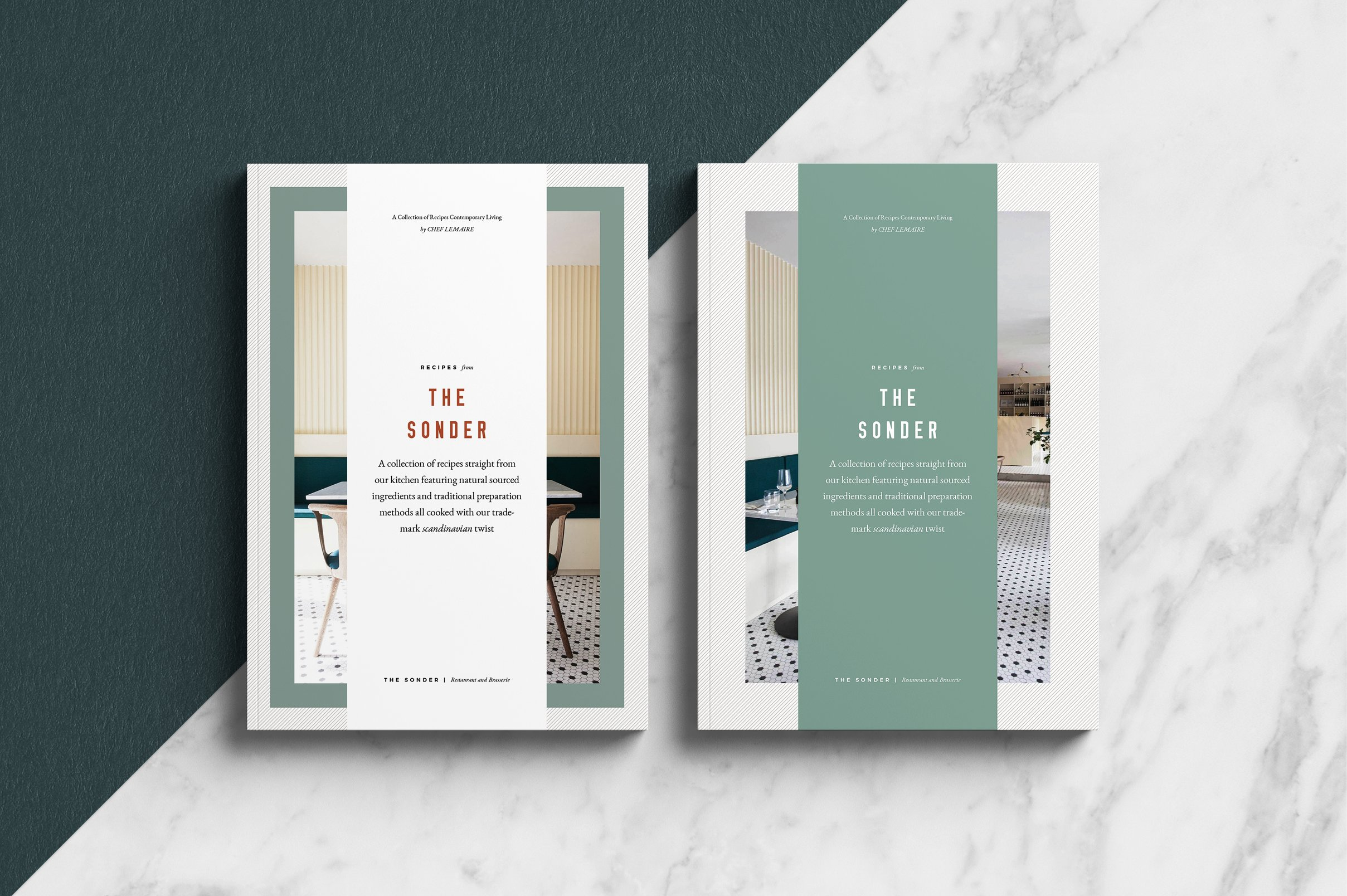 Sønder CookbookRecipe Book Brochure Templates Creative Market - Adobe indesign cookbook template