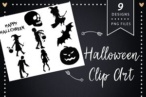 Halloween Silhouette Clipart