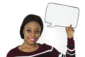 Hold Blank Speech Bubble (PNG)