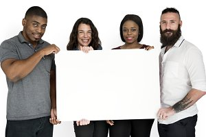 Hold Blank Paper Board (PNG)