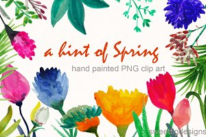 hand painted spring flowers