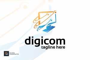 Digicom - Logo Template