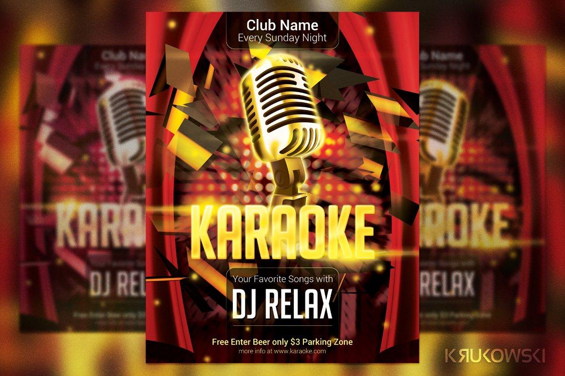 Karaoke Club Flyer Templates Creative Market