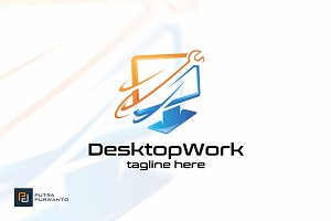 Desktop Work - Logo Template
