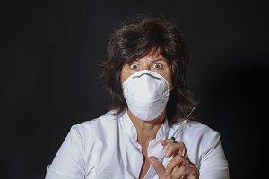 Frightening female doctor