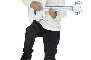 Kid in a studio (PNG)