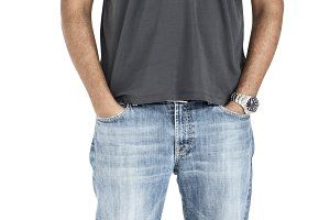 Indian Man Casual Standing(PNG)