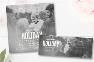 Photo Holiday Mini Session Template