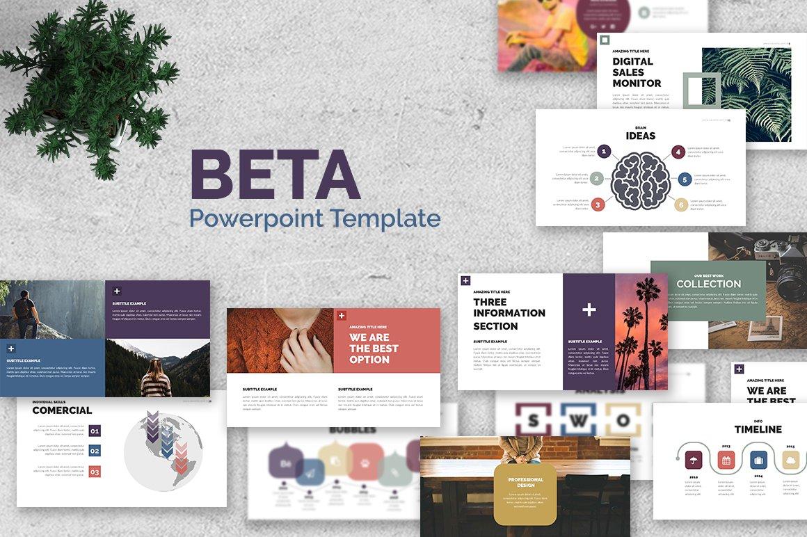 Beta powerpoint template presentation templates creative market toneelgroepblik Image collections