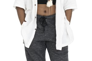 African Descent Girl Casual (PNG)