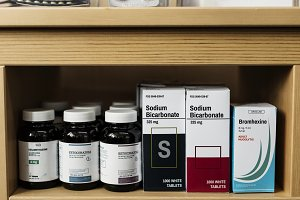 Group of medicine drugs stock
