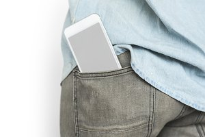 Mobile Phone Pocket Copy Space(PNG)