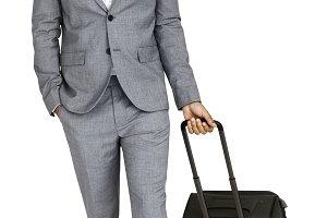 Businessman Passenger Traveling(PNG)